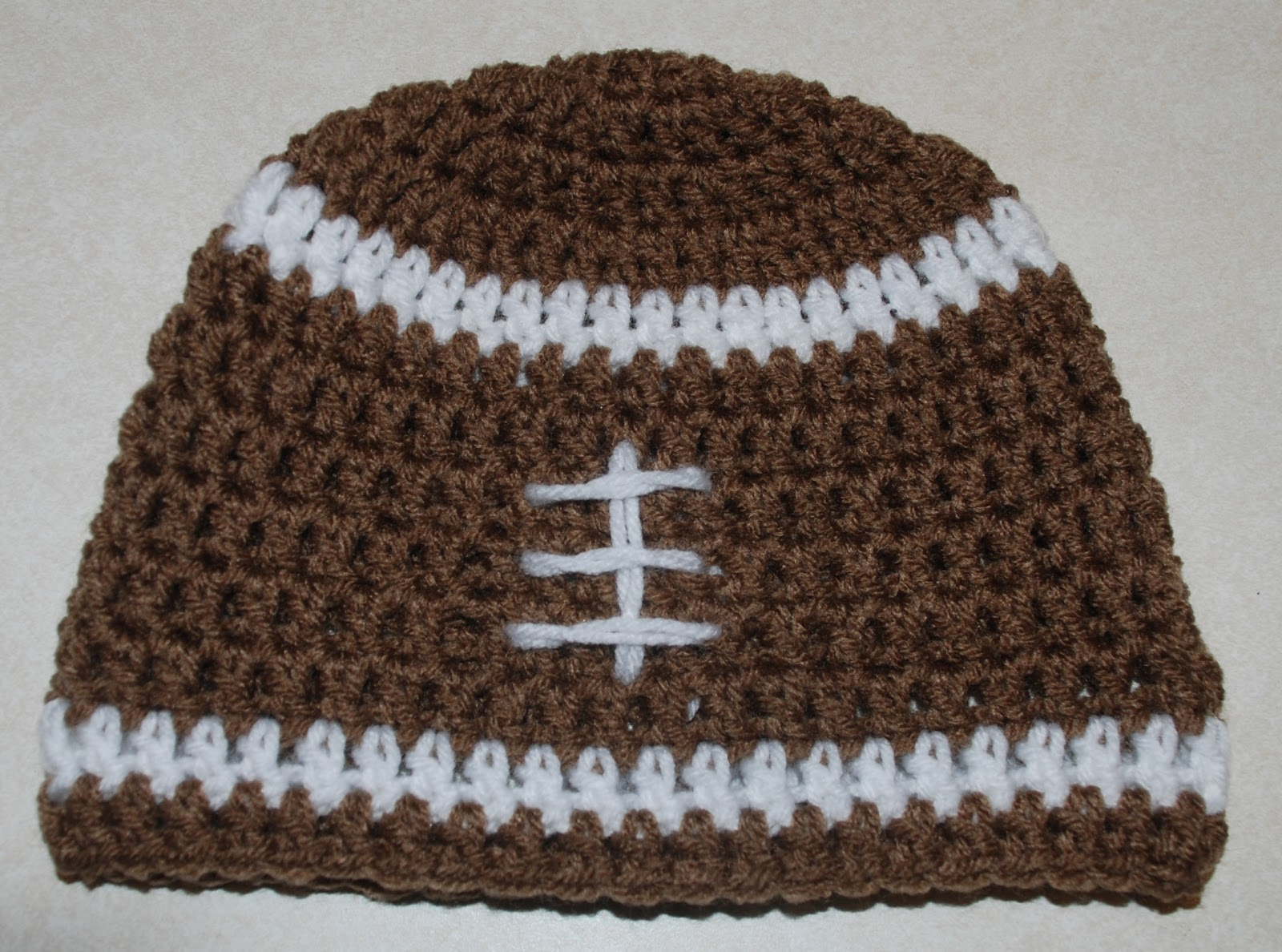 Crochet Pattern Baby Hat Free : Amys Crochet Creative Creations: Crochet Football Hat ...