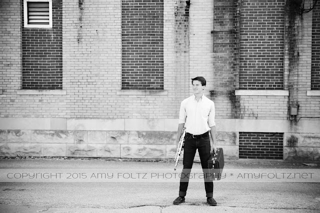 senior session in downtown Terre Haute, Indiana