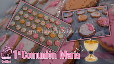 Galletas Cookies de fondant comunión Laia's Cupcakes Puerto de Sagunto
