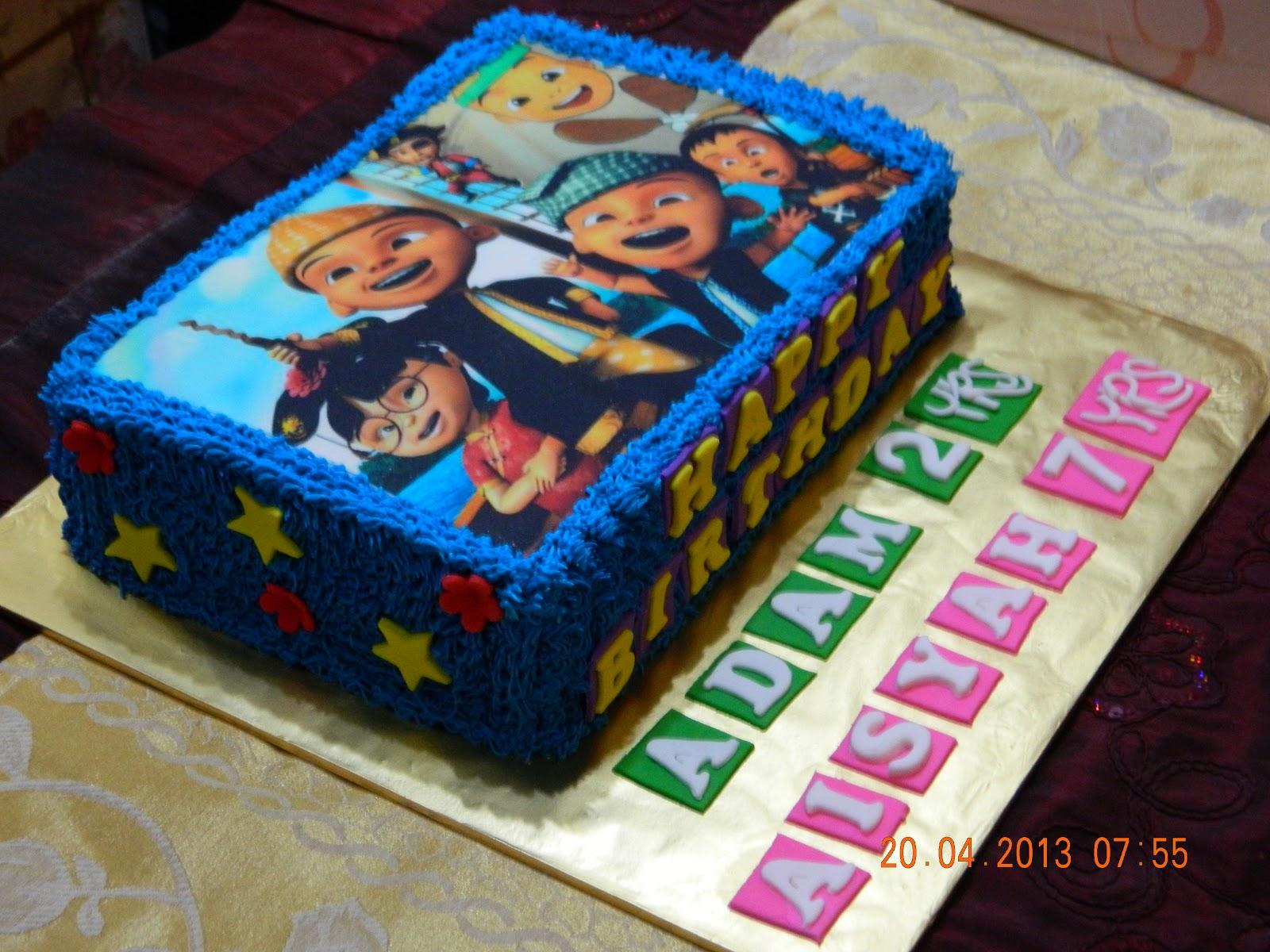 Mybabydeco: Cake Edible Upin Ipin