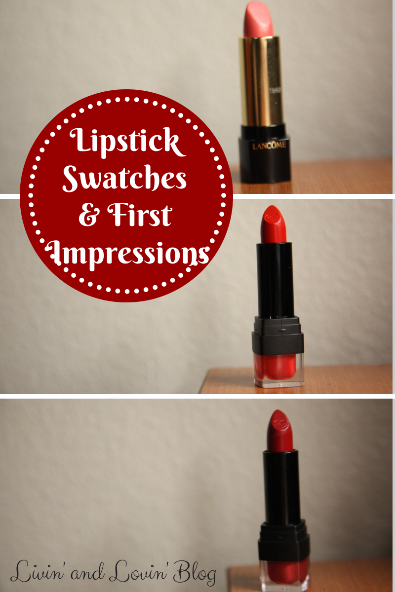 Lipstick Swatches and First Impressions: Lancôme and City ...