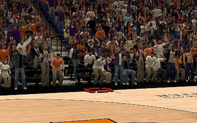 NBA 2K13 Phoenix Suns Stadium Arena Fans Fix