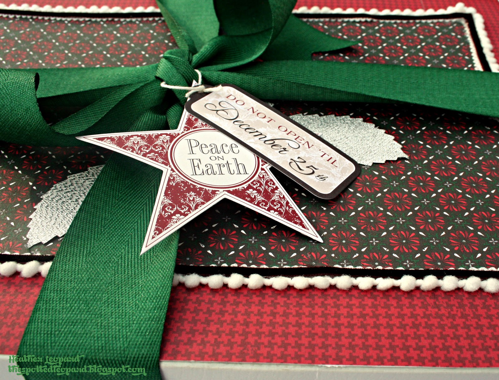 Gift Box Heather Leopaard Tags