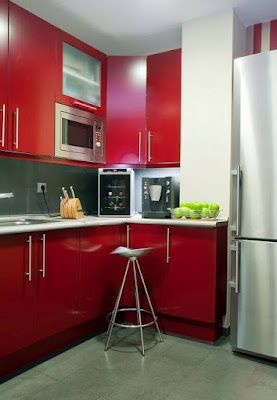 Red mahogany kitchen cabinets, red kitchen walls with oak cabinets, antique red kitchen cabinets, red color kitchen cabinets