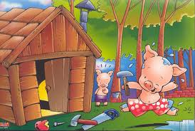 cerdito casa madera