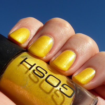 Gosh Yellow Bombay Nail Polish Swatch