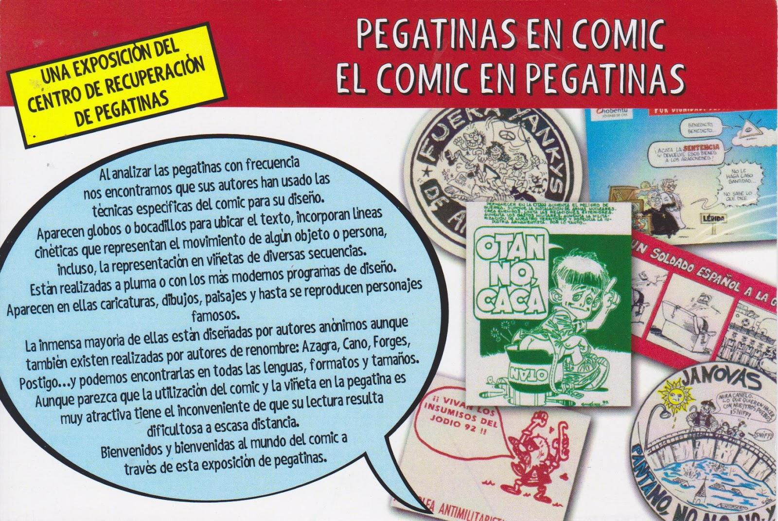 EXPOSICION HUMOR GRAFICO EL COMIC EN PEGATINAS