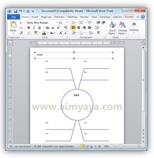 Gambar: Contoh dokumen baru untuk pembuatan Spider Map