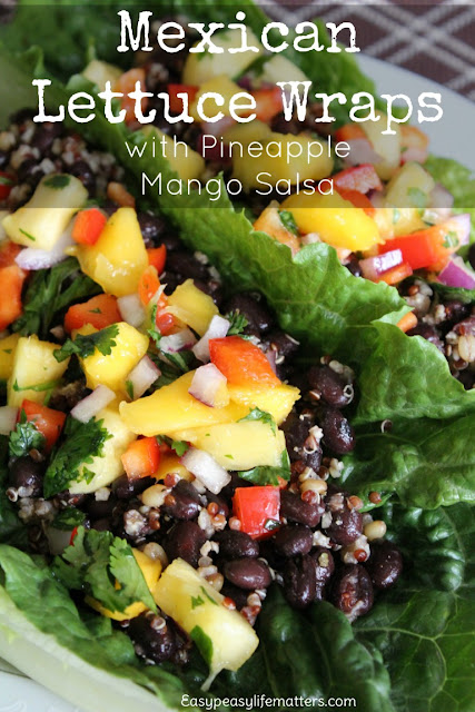 http://easypeasylifematters.com/recipes/quick-meals/mexican-lettuce-wraps-with-pineapple-mango-salsa/