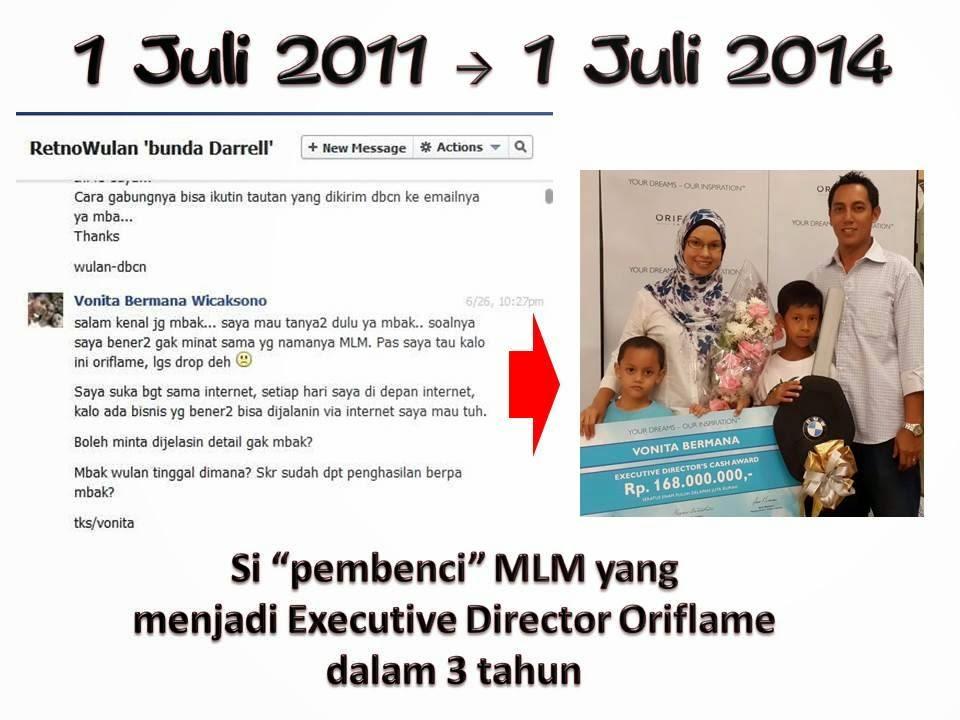 Si Pembenci MLM sukses jd Executive Director dlm 3 th aja