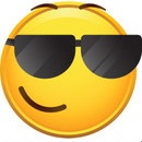 Sunglasses emoticon facebook