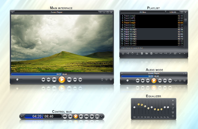 تحميل برنامج زوم بلاير لتشغيل جميع صيغ الصوت والفيديو مجانا Zoom Player 8-6-1