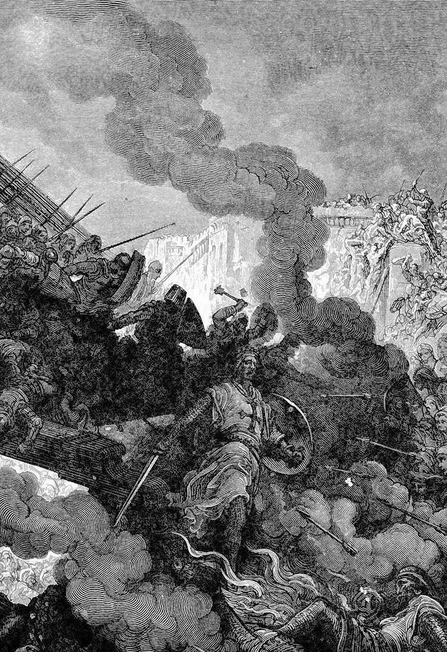Godofredo de Bouillon entra em Jerusalém, Gustave Doré (1832 — 1883)