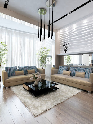 Gambar Ide Desain Interior Ruang Tamu Mewah 2015