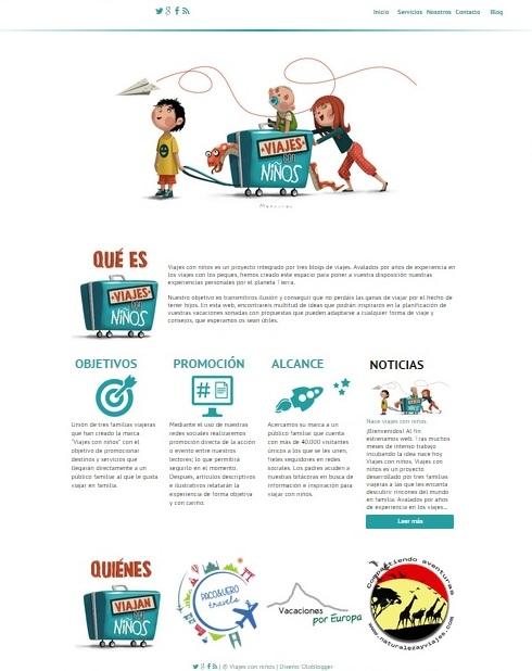 Web Viajes con niños