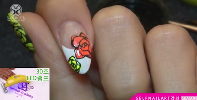 Sara Youtube Class! fluorescent rose painting video, easy to follow