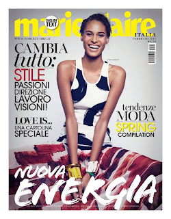 Magazine Cover : Cindy Bruna Magazine Photoshoot Pics on Marie Claire Magazine Italy February 2014 Issue