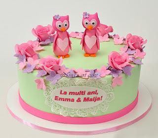 Tort aniversar pentru Emma si Maija