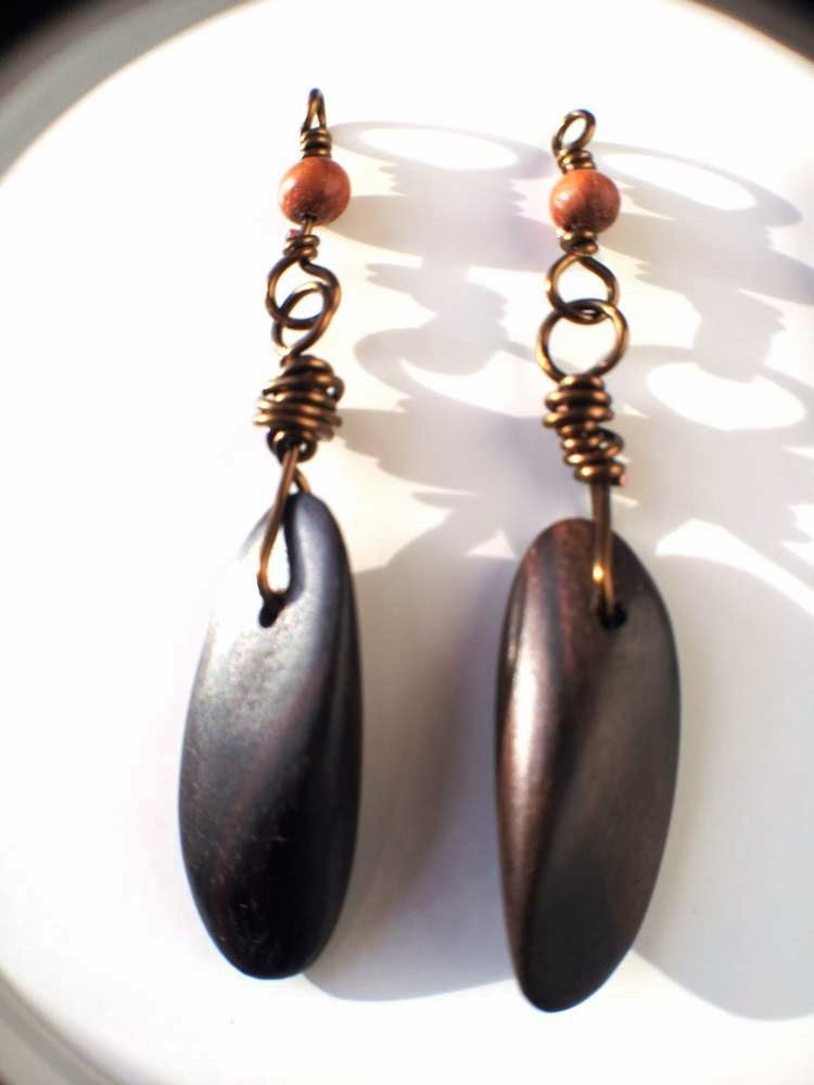 The Creative Continuum of 7 Artists - featuring Monique Urquhart: In the Woods: ooak earrings, wood beads, wire wrapping :: All Pretty Things
