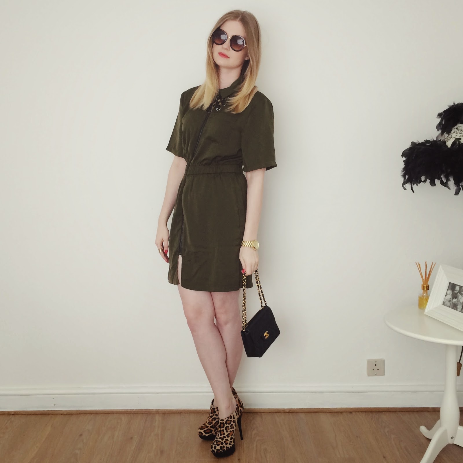 FashionFake, fashion bloggers, military style dress