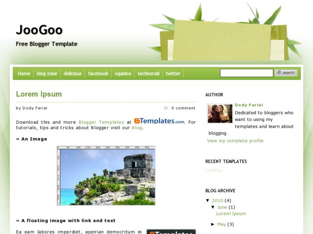 JooGoo Green Blogger Template