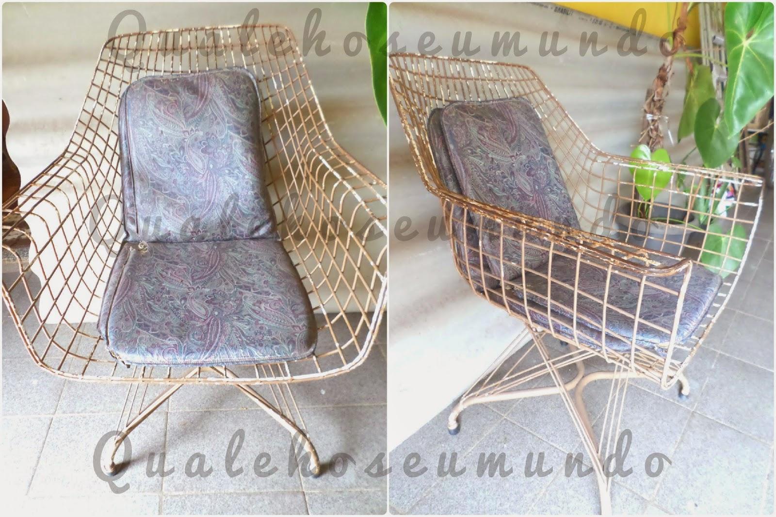 reciclar cadeira de ferro de jardim