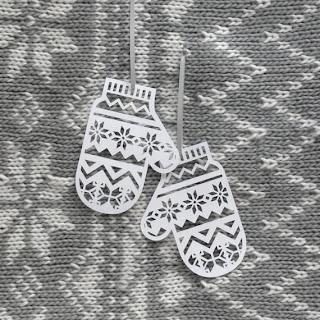 Варежки из бумаги для новогоднего декора