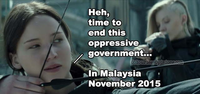 Hunger Games Mocking Jay 2 meme malaysia government