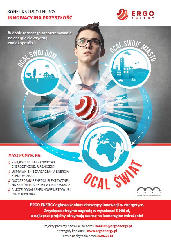 Plakat reklamujący konkurs Innowacyjna Przyszłość - materiały organizatora