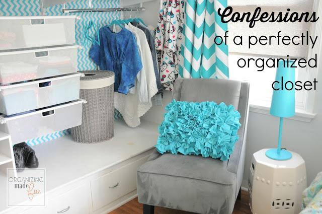Confessions of a perfectly organized closet :: OrganizingMadeFun.com