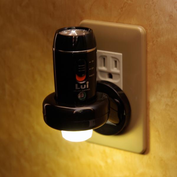 Lui 懐中電灯にもなり非常用に最適 充電式センサーLEDライト LU-02 ポニョ 懐中電灯