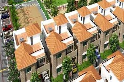 Urbanización moderna en la India renderizado de un proyecto
