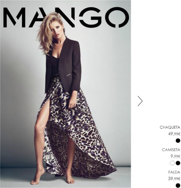 Kate Moss falda larga Mango
