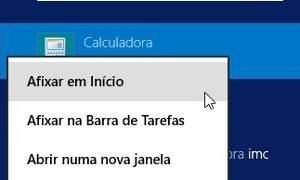 Como encontrar calculadora no Windows 8