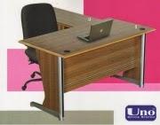 Uno Meja Kantor Lavender Series Warna Walnut-2