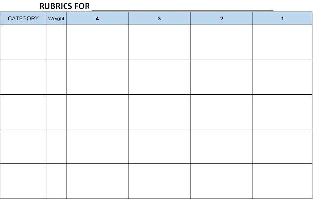 Blank Rubric Template. rubric template 47 free word excel pdf ...