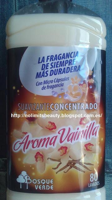 """Suavizante para la ropa """"Aroma Vainilla"""" de Bosque Verde (Mercadona)"""