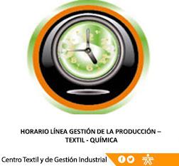 HORARIOS LÍNEA GESTIÓN DE LA PRODUCCIÓN Y LÍNEA TEXTIL - QUÍMICA