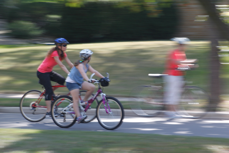 Panning Photography of Cyclists Biking
