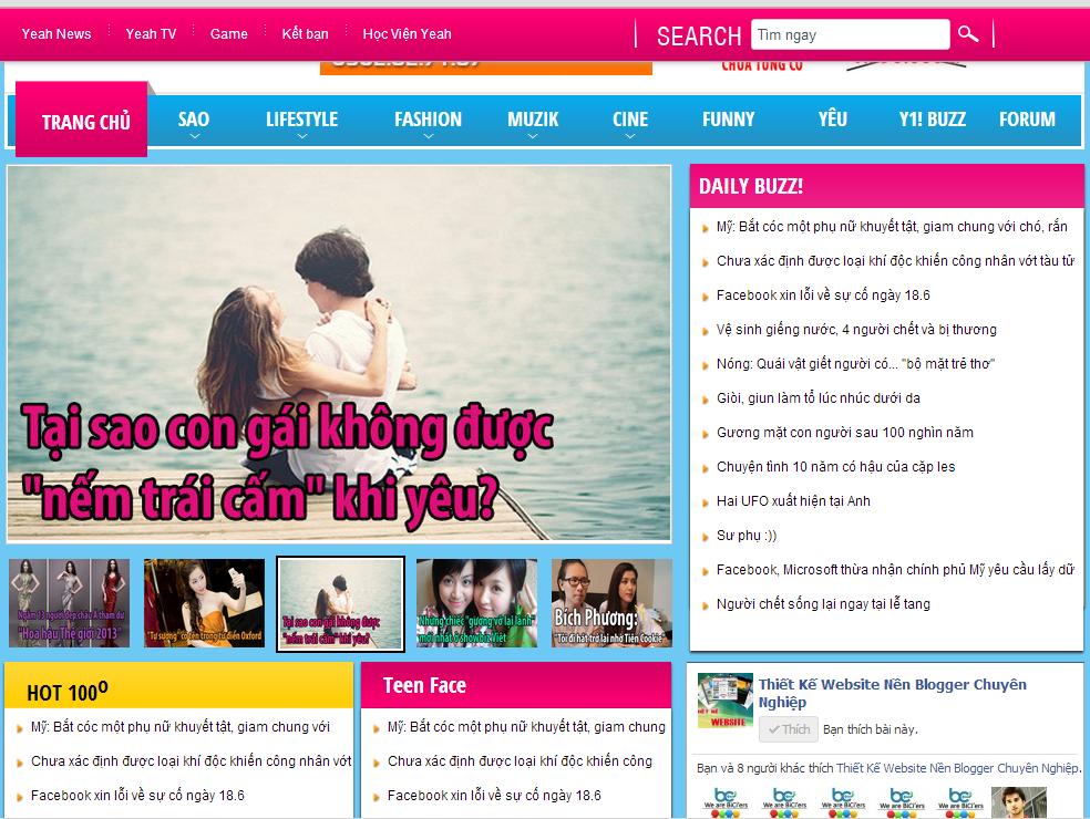 Template Blogspot Cho Trang Tin Tức Đẹp Và Chuyên Nghiệp v2