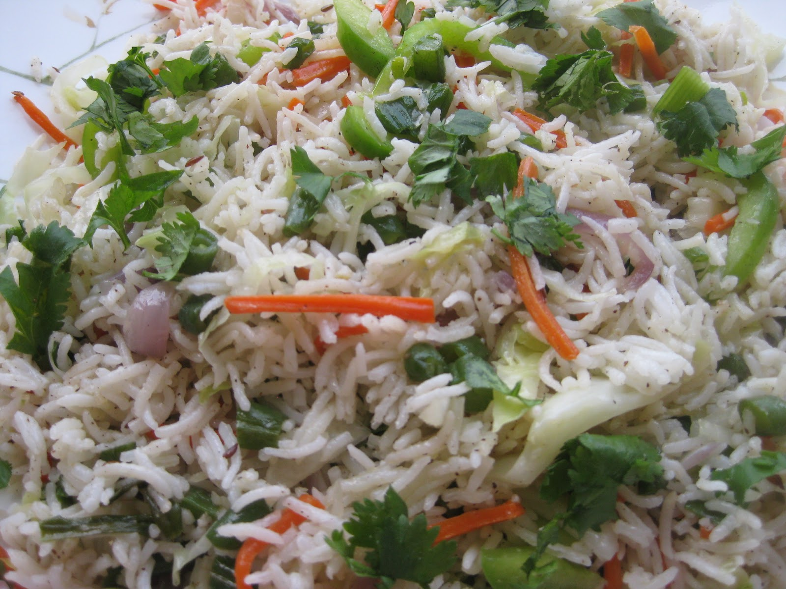 ... Vegetable Fried Rice - Recipe for south-indian vegetable fried rice