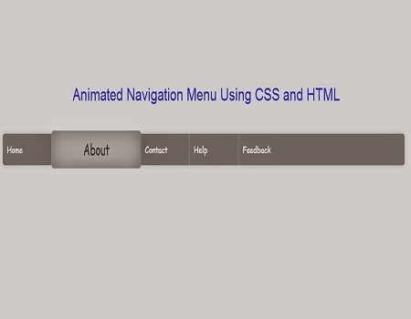 Tutorial To Design Animated Navigation Menu Using CSS And HTML.