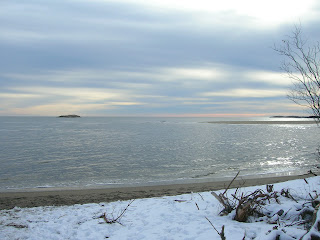 Winter beach in Maine