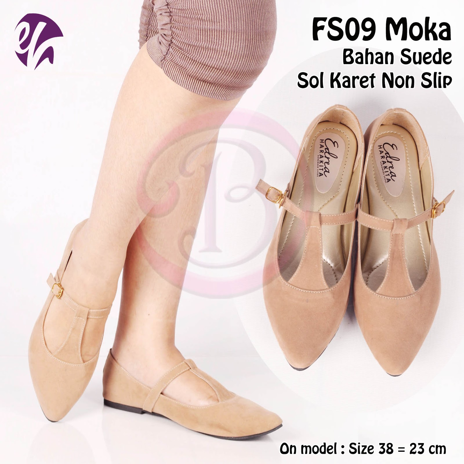 Supplier Flatshoes Bogor Hubungi 0813 109 Sepatu Wanita Flat Karet Suede