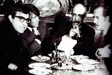 Carlos Monsiváis, José Luis Cuevas, Fernando Benítez y Carlos Fuentes