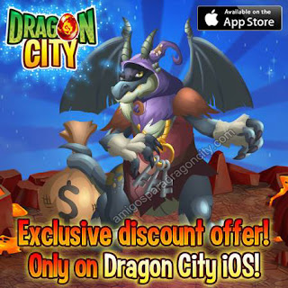 imagen de la oferta del dragon ladron de dragon city ios
