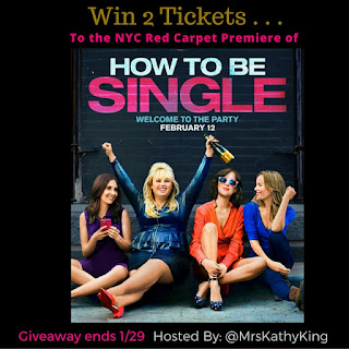 Enter the How to be Single NYC Premiere Giveaway. Ends 1/29