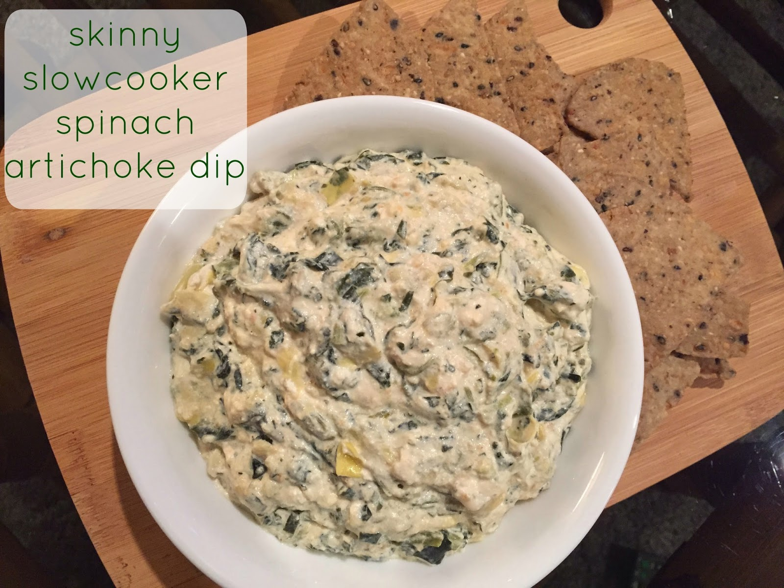 The Sequin Notebook: Skinny Slowcooker Spinach Artichoke Dip