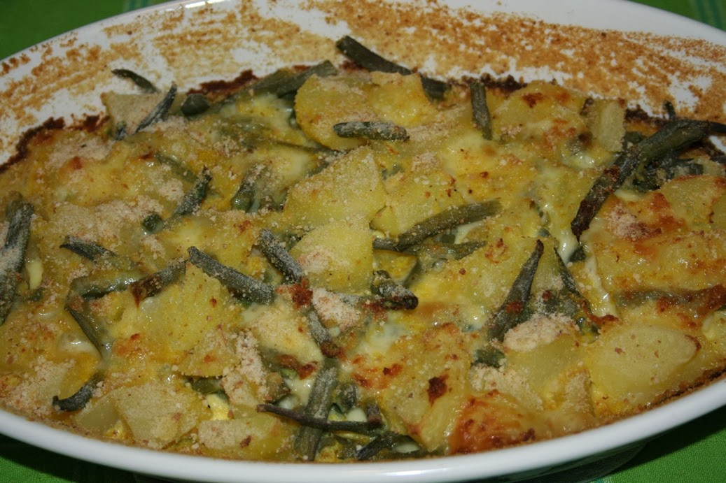 In cucina con francy tortino di patate e fagiolini - Cucinare i fagiolini ...