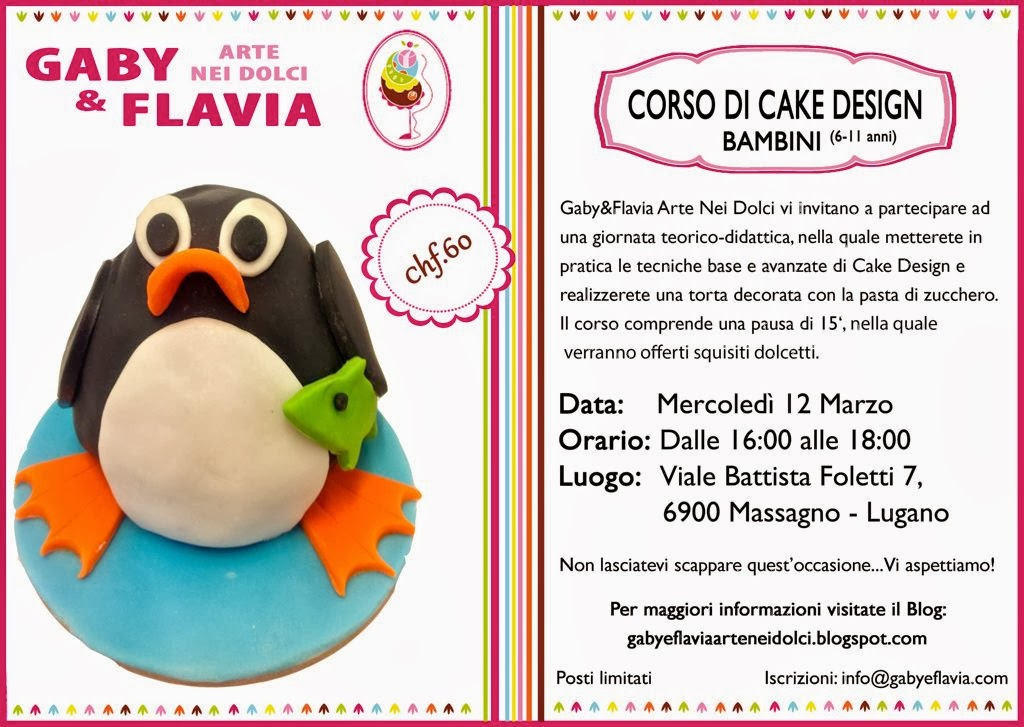 Corso di cake design bambini marzo 2014 arte nei dolci for Corso di designer